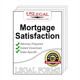 Satisfaction of Mortgage Package